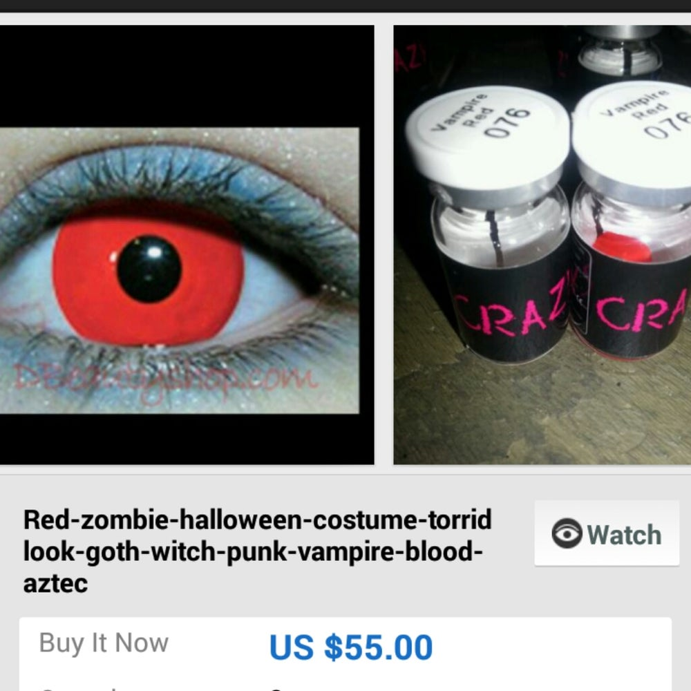 hollywoodshops661 — contacts blackout gypsy pirate Halloween ...