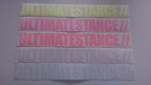 Image of Ultimate Stance - Large Windscreen Sticker