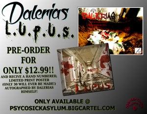 Image of DALERIAS - L.U.P.U.S. (PRE-ORDER) W/FREE POSTER!!!