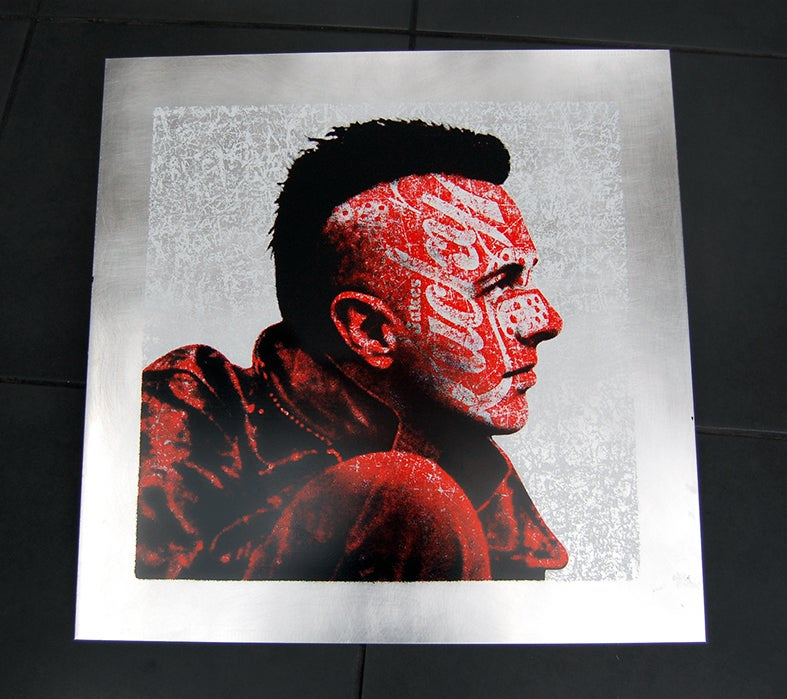Image of JOE STRUMMER - ON ALUMINIUM SHEET