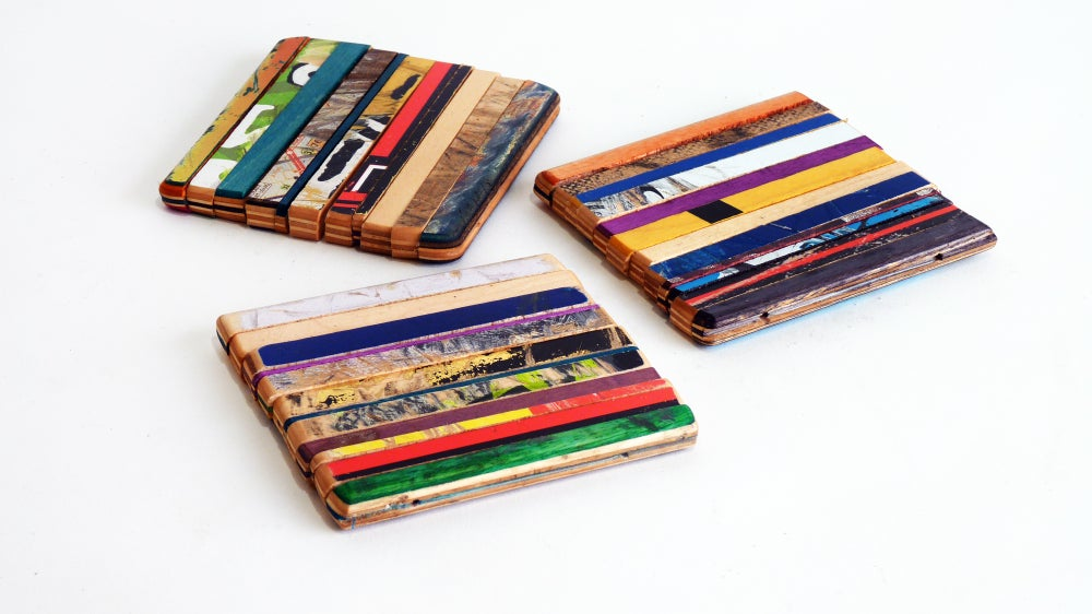 Image of Ripped Coaster Set of Three (3) - Recycled Skateboards