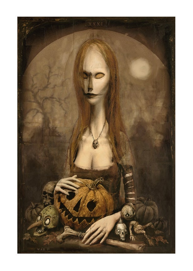 "Image of ""The Halloween Lady"" Limited Edition print"