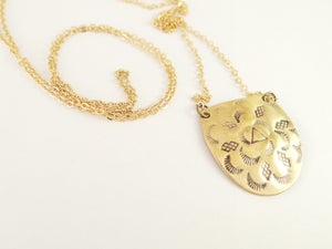 Image of Chased Pendant Necklace