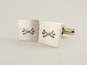 Image of Double Axe Cufflinks
