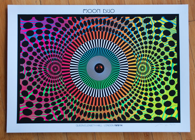 Image of Moon Duo - White Edition - London Silkscreen Poster