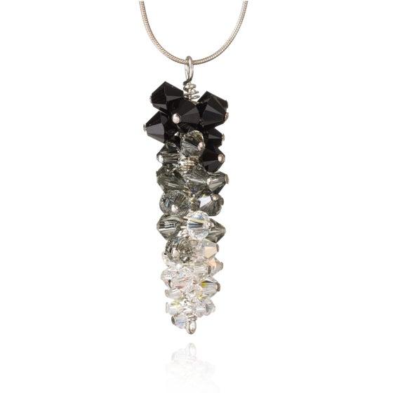 Image of Ostentatious black Swarovski pendant