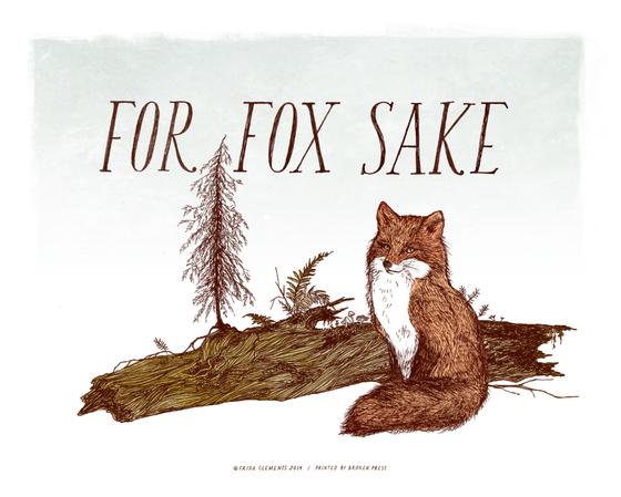 Image of For Fox Sake / 8x10 Color Print