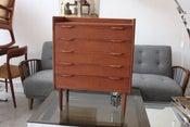 Image of 1960's danish teak chest / telephone table
