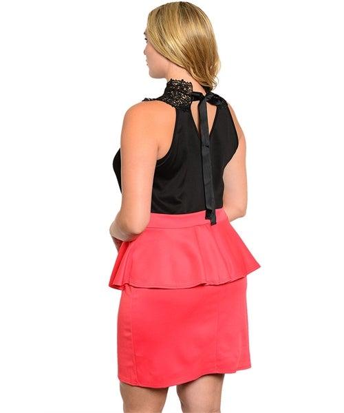Image of BLACK CORAL DRESS