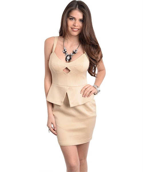 Image of CREAM WITH LINING DRESS