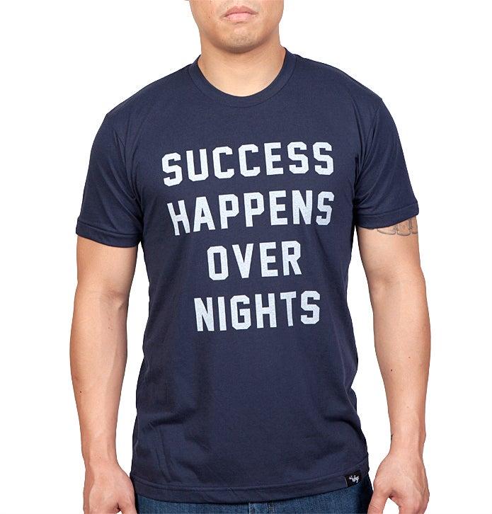 Image of Success Happens Over Nights Tee (Navy)