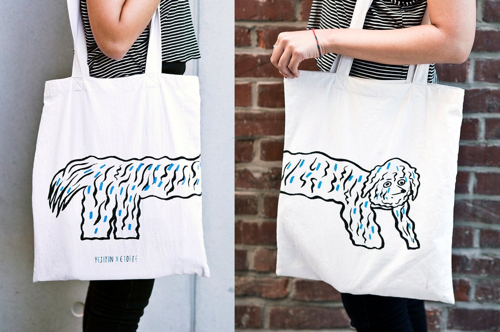 Image of Bichon Frisé tote bag