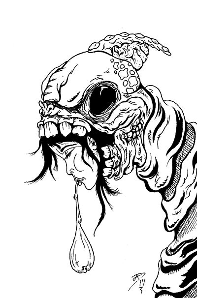 "Image of ""The Parasite"" Postcard (original art)"