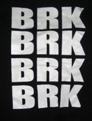 Image of BRK BRK BRK BRK White Print/Black American Apparel T-Shirt [SOLD OUT]