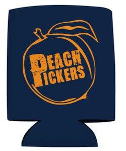 Image of Peach Pickers Koozie (Navy/Orange)