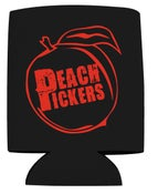 Image of Peach Pickers Koozie (Black/Red)