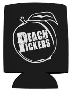 Image of Peach Pickers Koozie (Black/White)