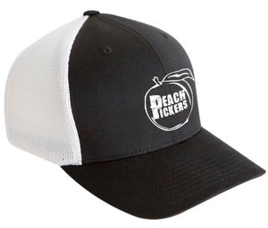 Image of Peach Pickers Hat (Black/White)