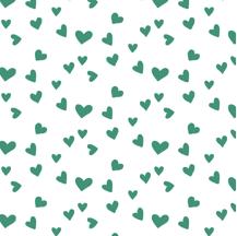 Image of ORGANIC COTTON Emerald + WHITE MINI HEART CUFFED LEGGINGS