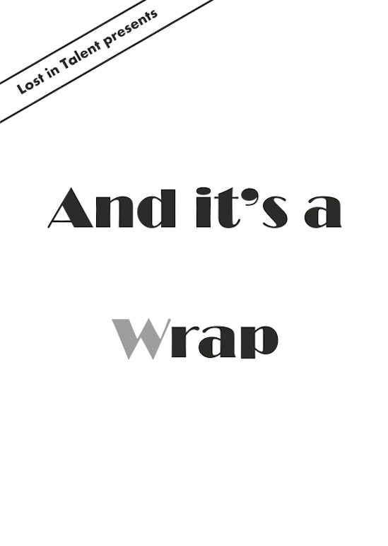 Image of The 'And It's a Wrap' Zine