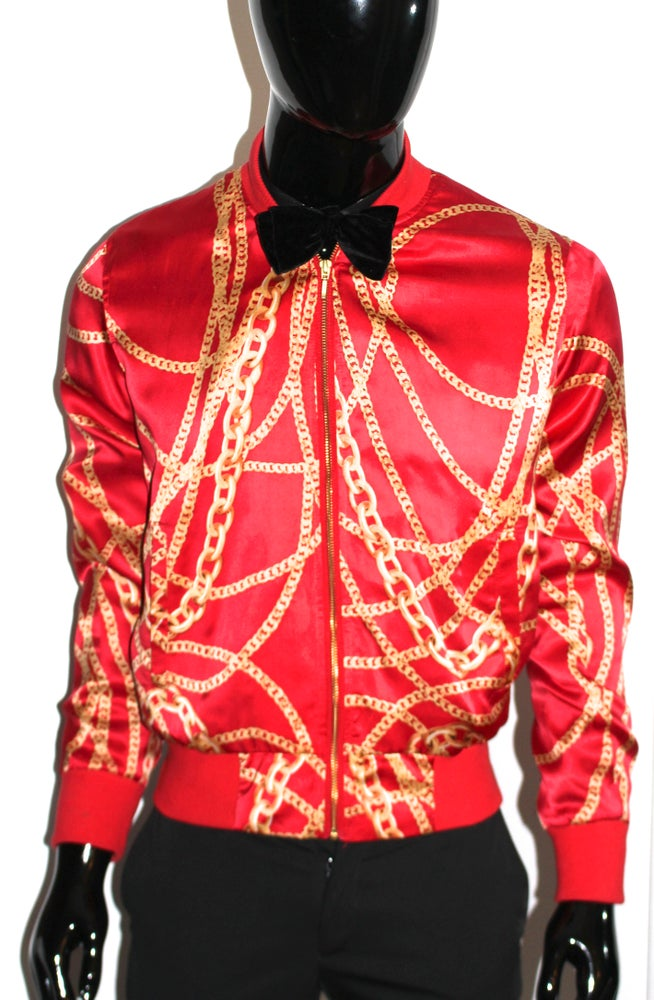 Image of RED Royalty Silk Members Club Jacket