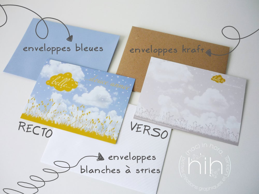 Image of 5 cartes de vœux ☁ciel☁