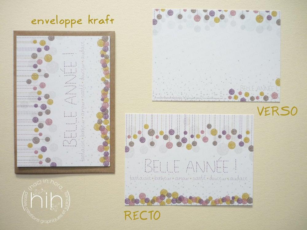 Image of 5 ou 10 cartes de voeux ✳glitter✳ / blanc