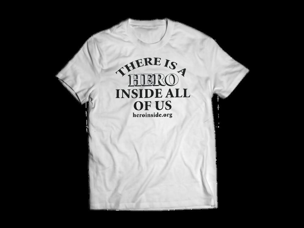 Image of Hero Inside T-Shirt (Back)