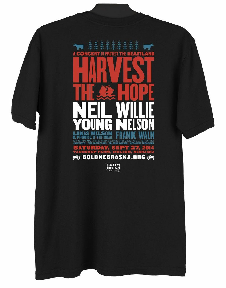 """Image of Official """"Harvest the Hope"""" Concert Shirt"""