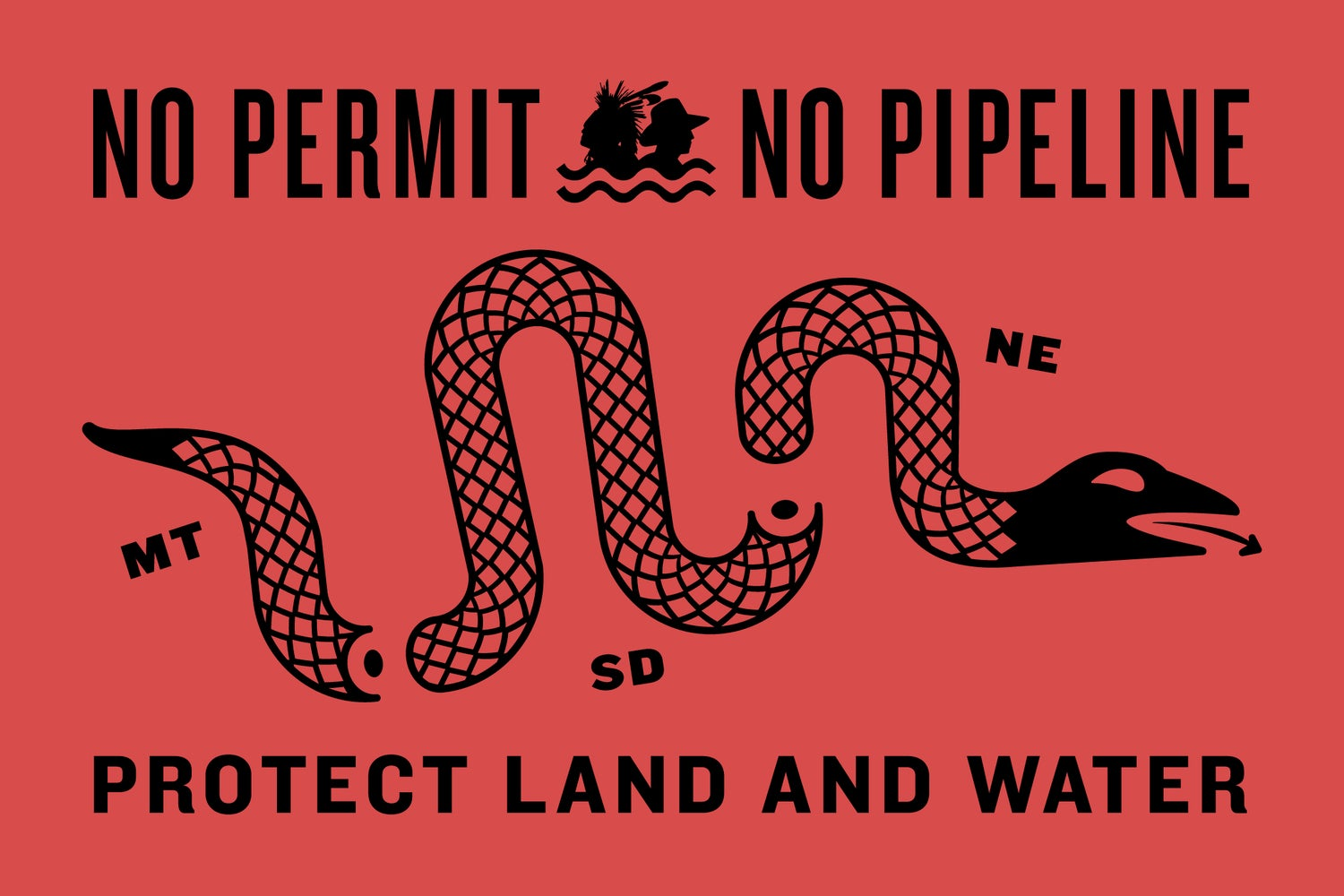 Image of No Permit, No Pipeline Shirt