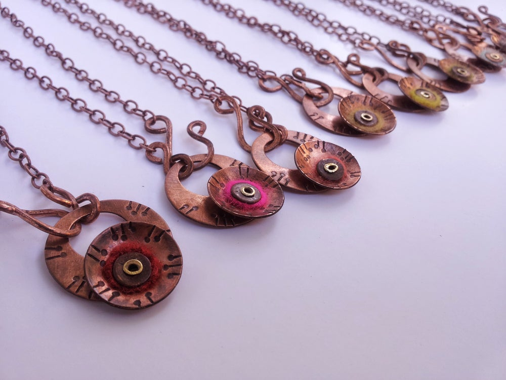Image of Cosmic Poppy Necklace MADE TO ORDER: Any color!