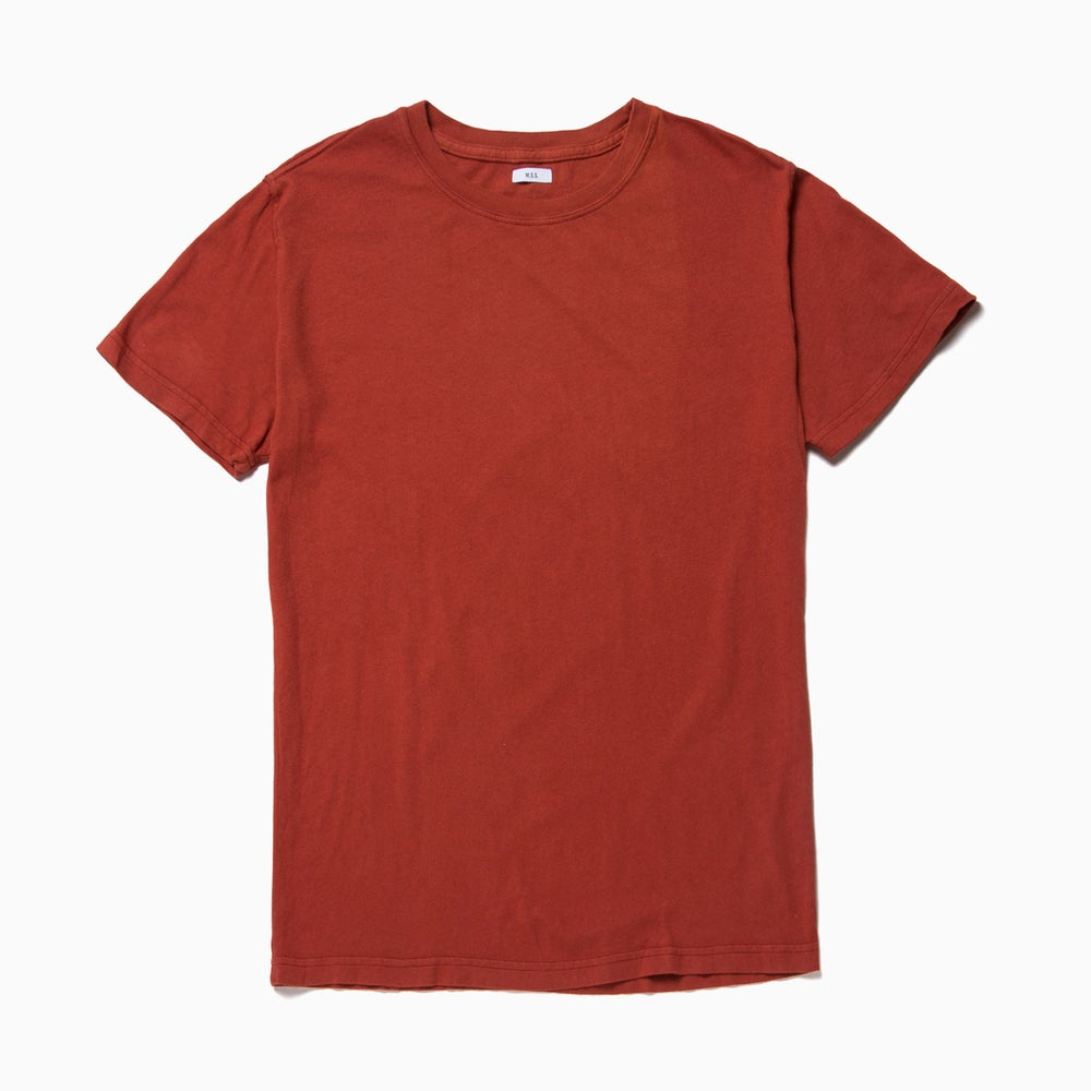 Image of M.S.S. Crew Neck Tee - RAILCAR RED