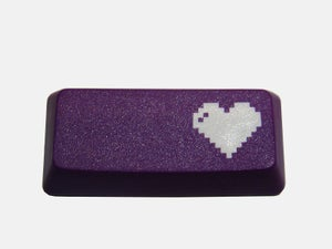 Image of 8-bit Heart Enter Keycap[Purple Edition]