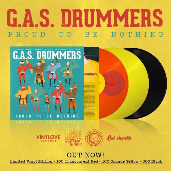 "Image of LADV32 - G.A.S. DRUMMERS ""proud to be nothing"" Lp REISSUE"