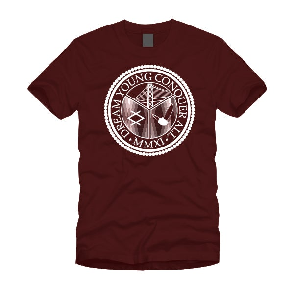 "Image of ""THE SEAL"" BURGUNDY/TEE"