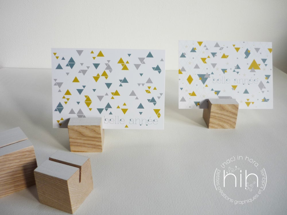 Image of 4 cartes de voeux assorties ▲triangolini▲
