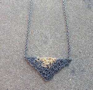 Image of Double triangle Necklace - short