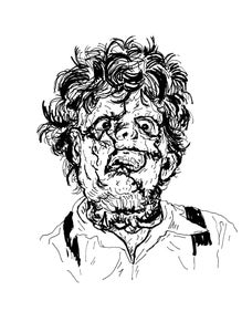 Image of 'LEATHERFACE' Print