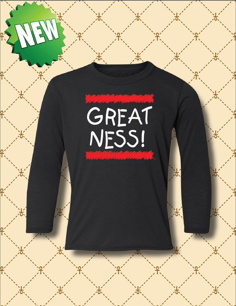 Image of GREATNESS LOGO YOUTH LONG SLEEVE SHIRT