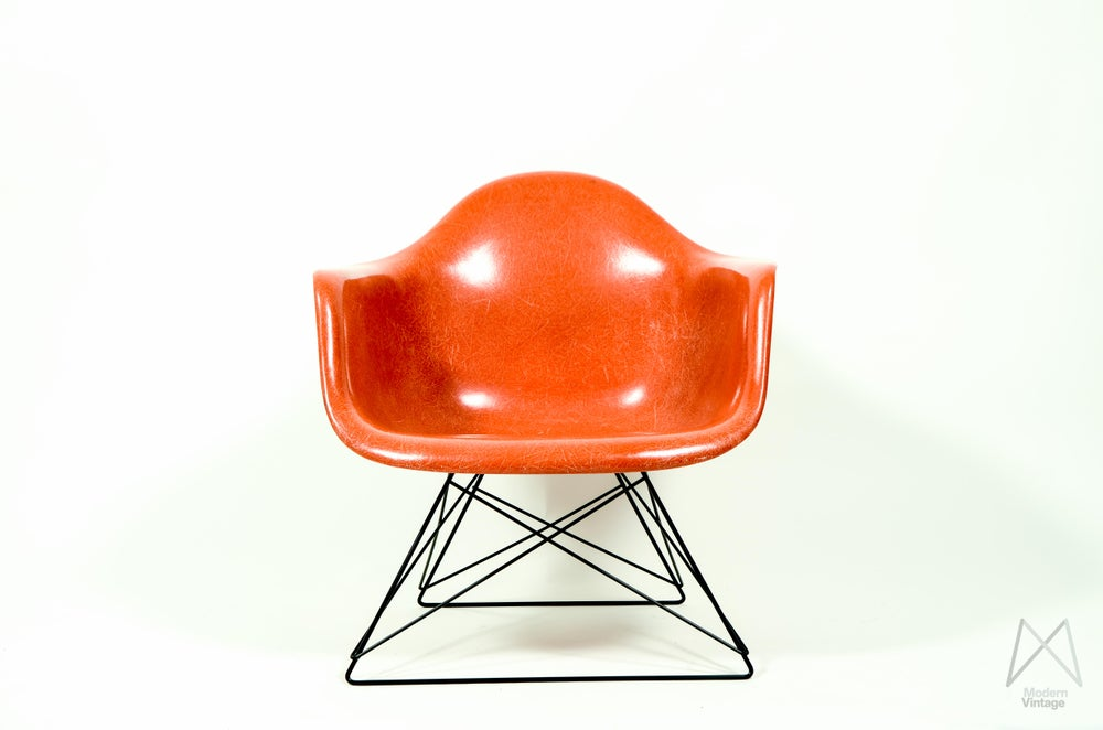 Image of Eames Herman Miller Armchair Low Rod Base Cats Cradle Case Study House