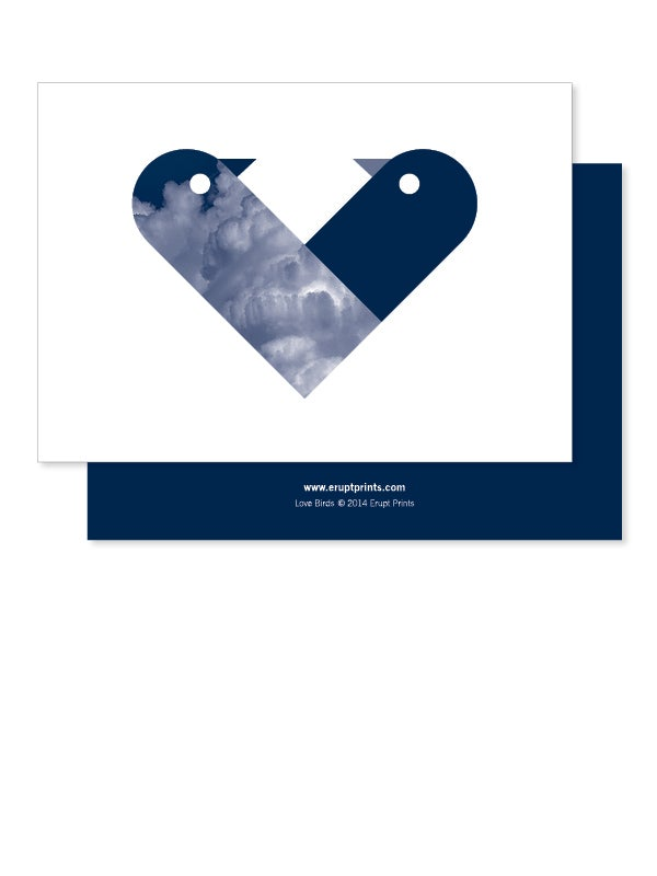 Image of Greeting Card - Love Birds - Navy Blue