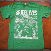 """Image of """"Swamp Thing"""" White on Green T-Shirt"""