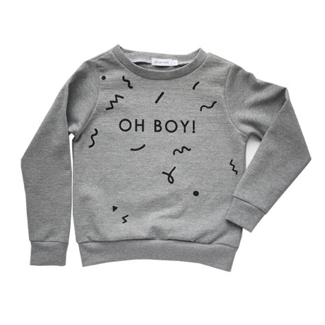Image of OH BOY sweatshirt heather grey