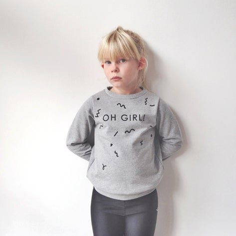 Image of OH GIRL! sweatshirt heather grey