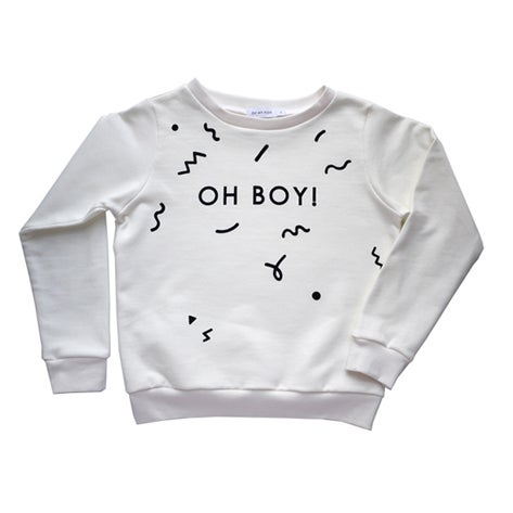 Image of OH BOY sweatshirt off white