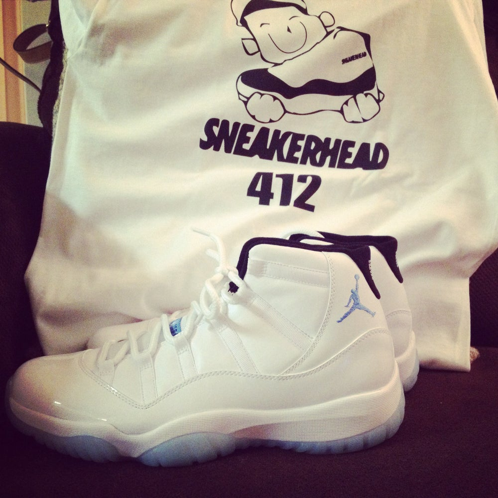 Image of Air Jordan Columbia 11s aka Legend Blue