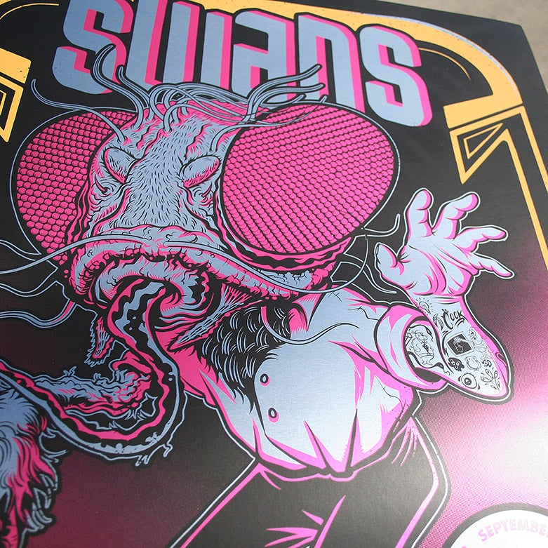 Image of Swans Gig Poster