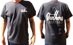 Image of Brothers Boards Shop Tee Dark Heather Ash