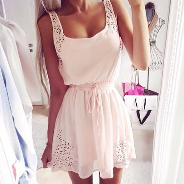 Image of Cute chiffon hot dress