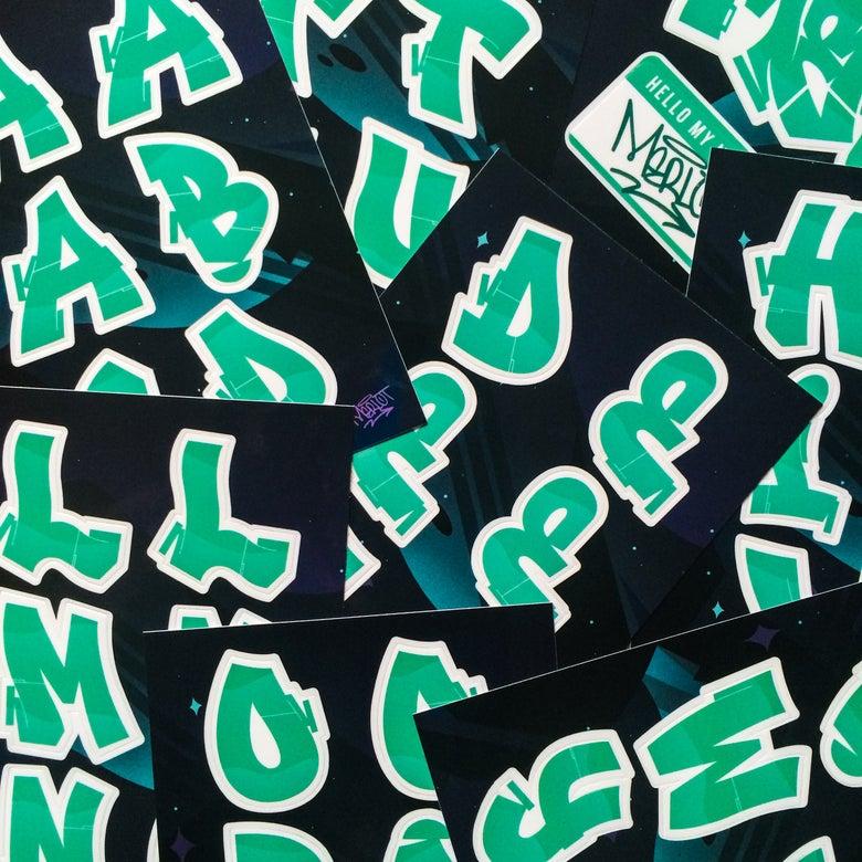 Image of Merlot Alphabet Sticker Pack